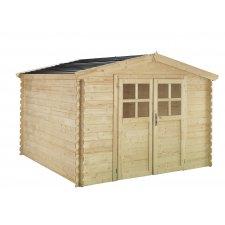 Abri jardin bois 28 mm Soleil® 9,4 m²