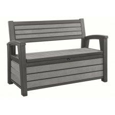 Coffre-banc jardin résine – Brossium® - 227L – gris / BRUSHWOOD