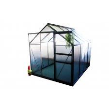 Serre jardin polycarbonate Diamant 86 – 4,8 m² - Anthracite