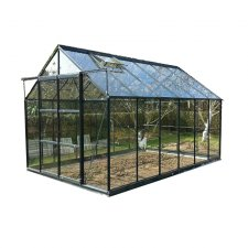 Serre jardin verre trempé 4 mm - Sekurit 8,9 m² + Base - Anthracite