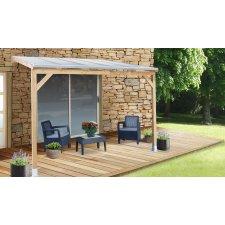 Toit Couv'Terrasse® en bois - Avec couverture en polycarbonate