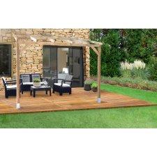 Toit Couv'Terrasse® en bois - Sans couverture en polycarbonate