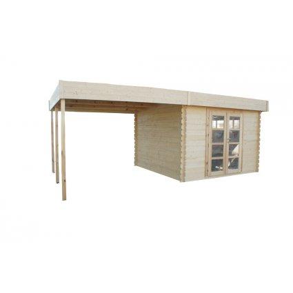 Abri jardin bois Almendra 17,5 m² - 28mm
