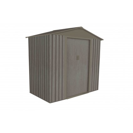 Abri jardin métal – Bois vieilli 64 2,4 m² - gris