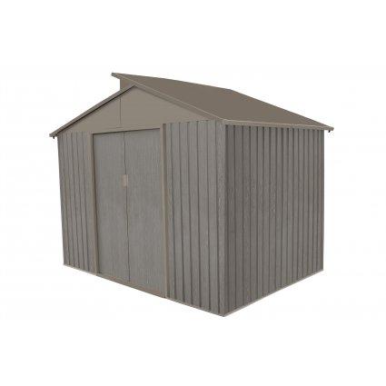 Abri jardin métal – Bois vieilli 9363 5,4 m² - gris