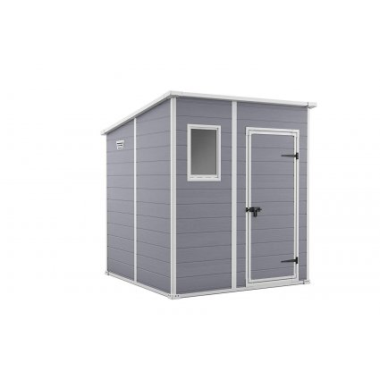 Abri jardin résine – Premium® Monopente 66 3,20 m² - gris / Manor Pent 6x6