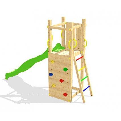 Aire de jeu escalade jardin bois Zebulon