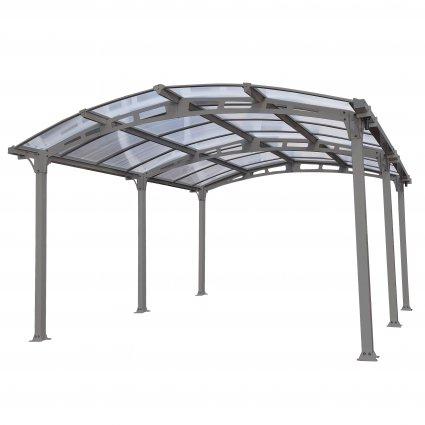 Carport aluminium & polycarbonate – Amilcar 5000 18,17 m² - Gris