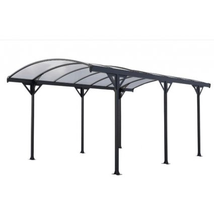 Carport aluminium & polycarbonate – Couv'Voiture 15,24 m² - Gris