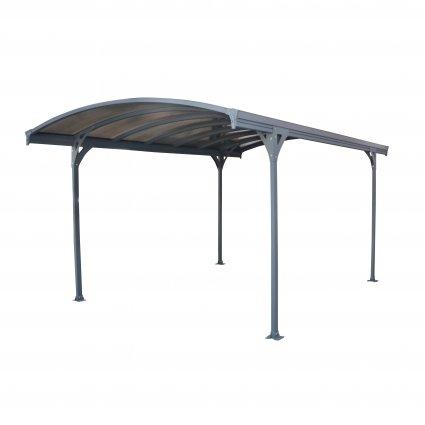 Carport aluminium & polycarbonate – Delage 5000 14,5 m² - Gris