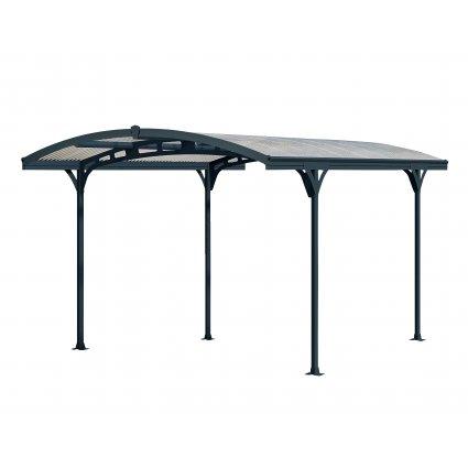 Carport aluminium & polycarbonate – Hispano 5000 14,3 m² - Gris