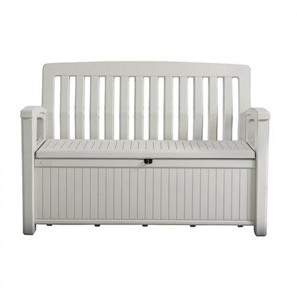 Coffre-banc jardin résine Patio Bench - 227L – blanc / PATIO BENCH
