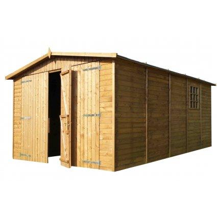 Garage bois Albatros traité 16 m² - 19mm