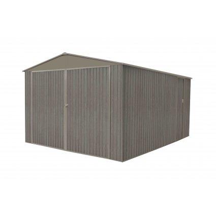 Garage métal – Bois vieilli 125157 18,24 m² - gris