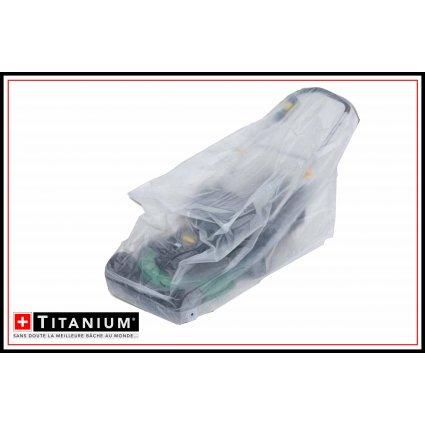 Housse de protection moyenne tondeuse - TITANIUM - 109x56x103 - transparente