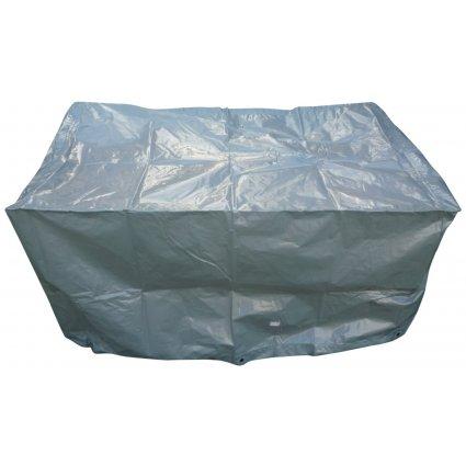 Housse de protection table barbecue rectangulaire - TITANIUM - 125x70x70 - Argent