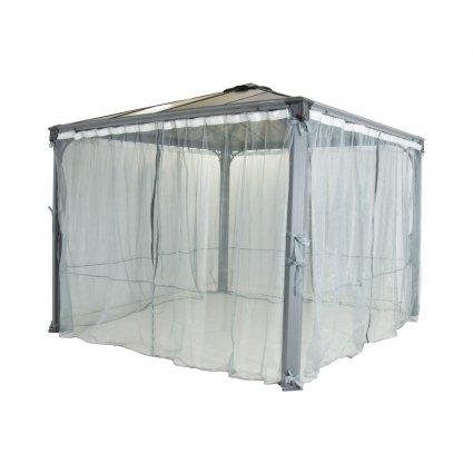 Moustiquaire tonnelle – Jardin d'hiver 360x217 – blanc – lot de 2