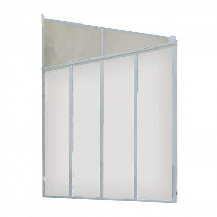 Panneau latéral Couv'Terrasse 3m - Blanc