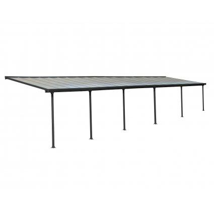 Toit Couv'Terrasse aluminium & polycarbonate Feria 3x10 - Gris