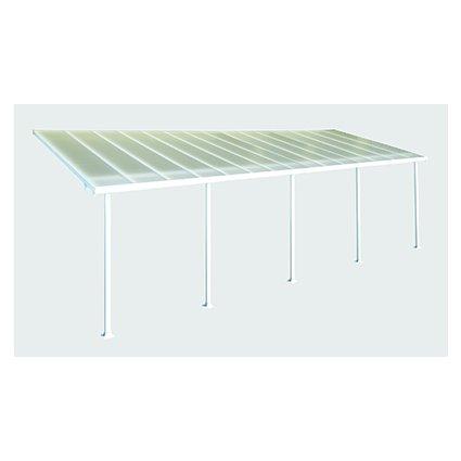 Toit Couv'Terrasse aluminium & polycarbonate Feria 3x9 - Blanc