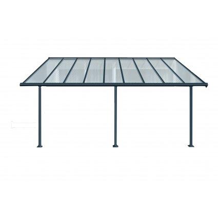 Toit-terrasse aluminium & polycarbonate Elite 3x5 - Gris