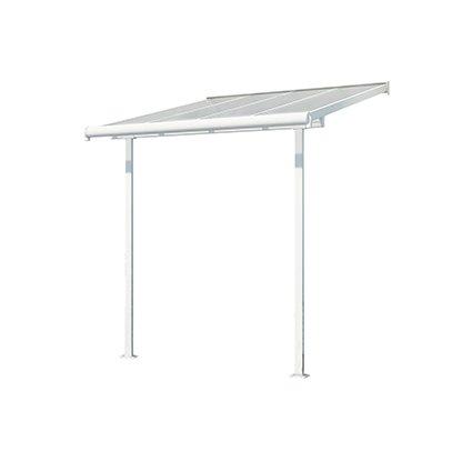 Toit-terrasse aluminium & polycarbonate Sierra 2x2 - Blanc