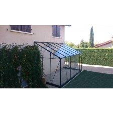Serre jardin d'hiver en verre trempé 4 mm - Sekurit 7,2 m² + Base - Anthracite