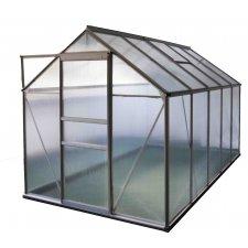 Serre jardin polycarbonate Diamant 106 – 6 m² - Aluminium naturel