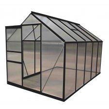 Serre jardin polycarbonate Diamant 106 – 6 m² - Anthracite