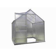 Serre jardin polycarbonate Diamant 66 – 3,6 m² - Aluminium naturel