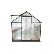 Serre jardin polycarbonate Diamant 66 – 3,6 m² - Anthracite