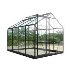 Serre jardin verre trempé 4 mm - Sekurit 5,8 m² + Base - Anthracite