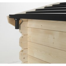 Gouttière abri jardin bois Soleil® 12,5 m²