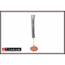 Housse protection parasol - Titanium - 160x30 - Argent